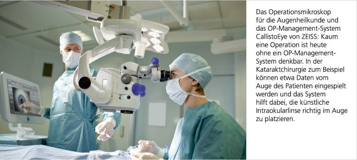 Surgical microscope for ophthalmology and CallistoEye OR management system