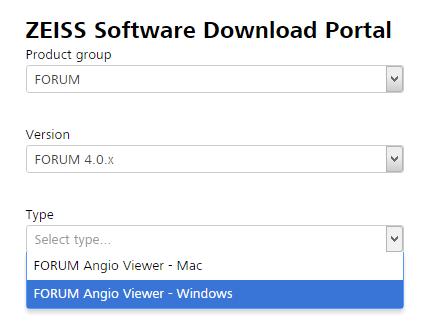 Software-Download-Portal von ZEISS